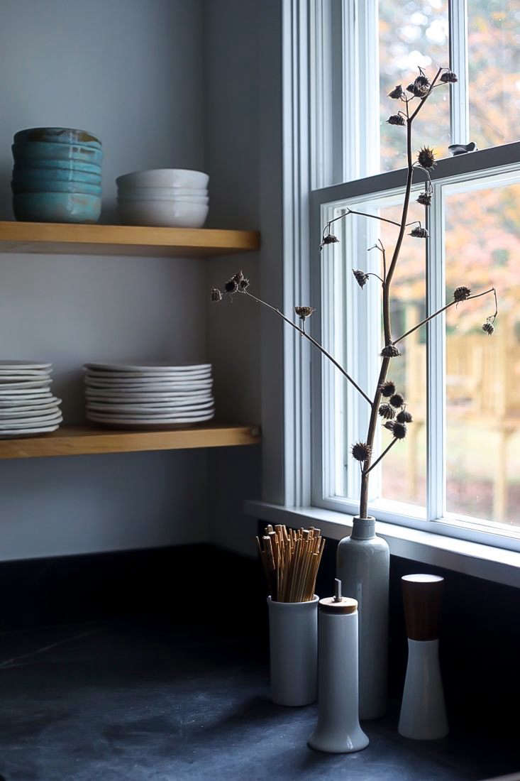 Kitchen of the Week Hudson Valley Farmhouse Kitchen Reborn Winter&#8\2\17;s bone: Dunja makes use of the sculptural forms of dead flowers.