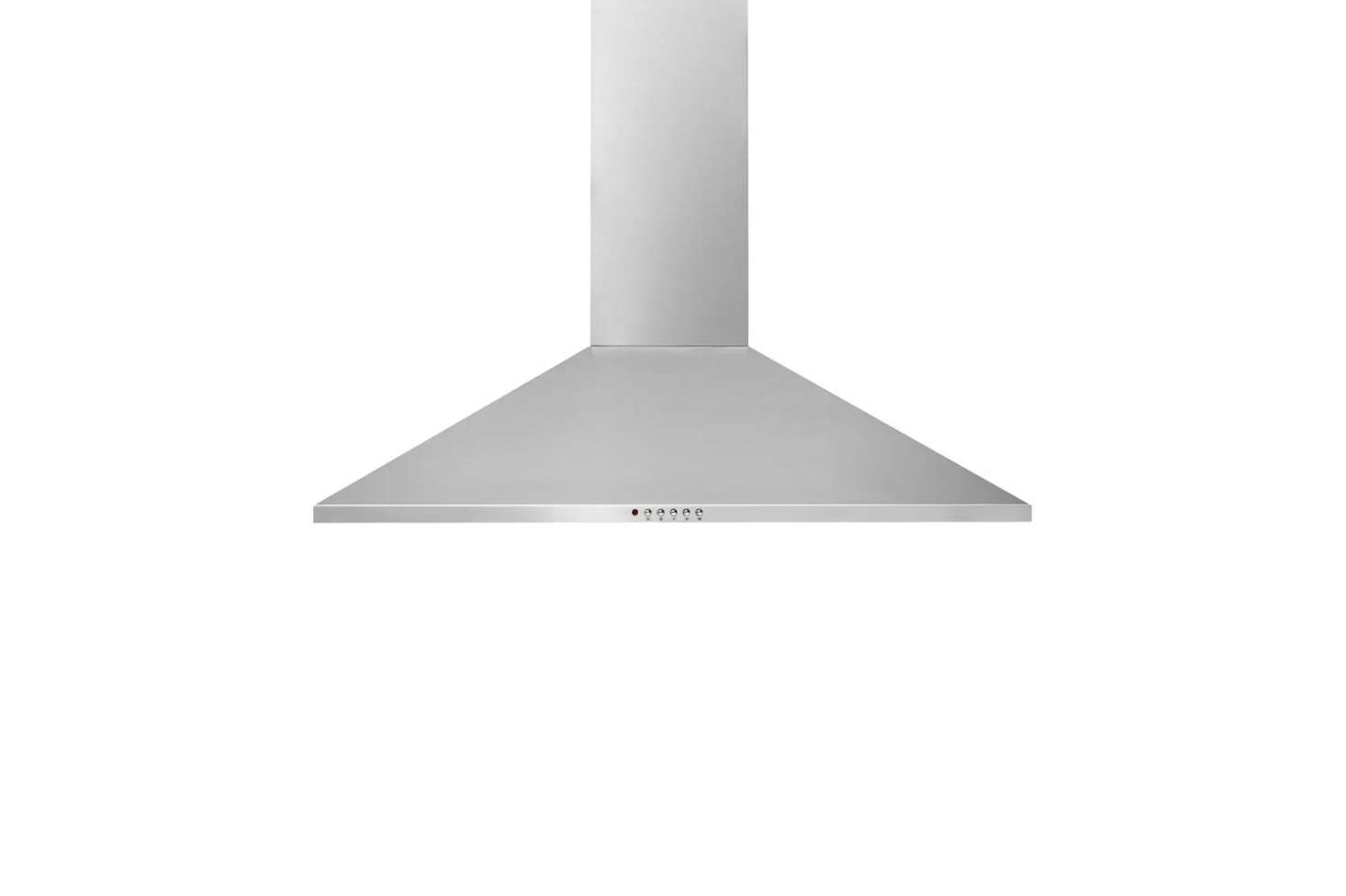 The Frigidaire 36-Inch Wall-Mount Chimney Range Hood has a centrifual fan, washable filters, and halogen lighting; $
