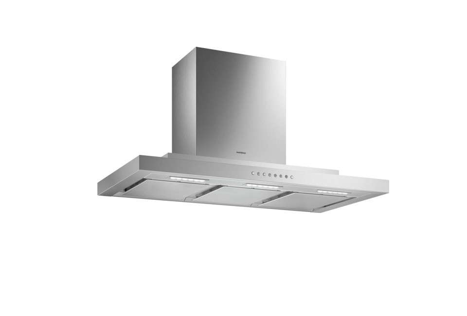 The Gaggenau 0 Series 36-Inch Wall Hood has a low-noise blower, delay shut-off function, high-level grease absorption, and three power levels. Contact Abt for pricing and availability.