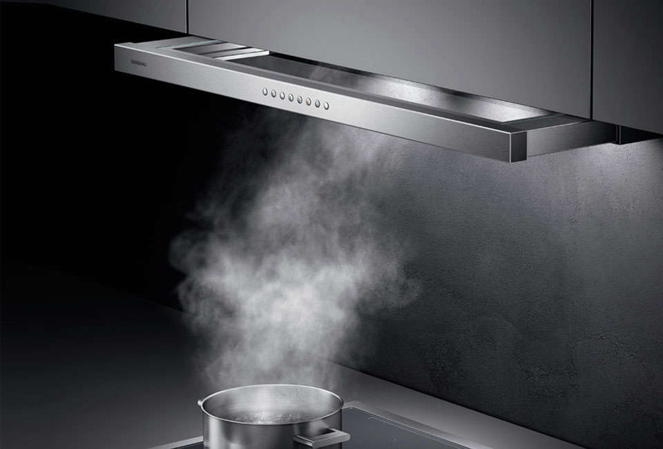 TheGaggenau 0 Series Visor Hood in Stainless Steel measures 35 3/8 inches and is $src=
