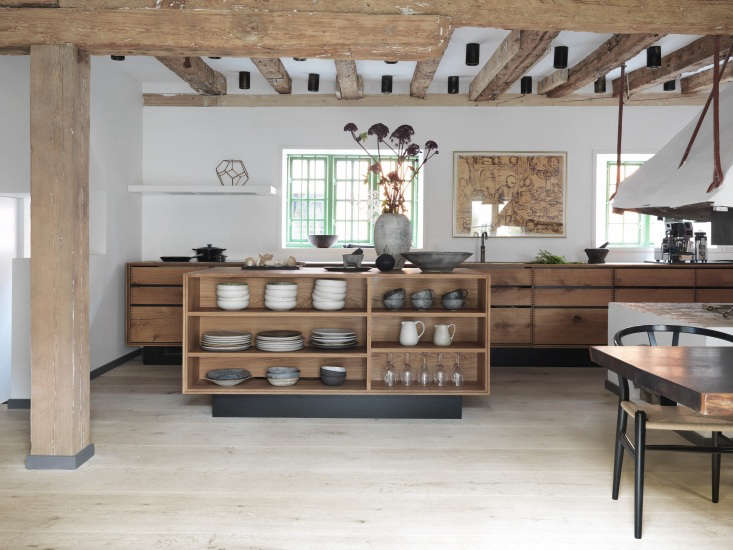 Expert Advice Nadine Redzepis Secrets to a WellOrdered Home Kitchen Open shelving on one side of the kitchen island keeps ceramics from Noma on display.