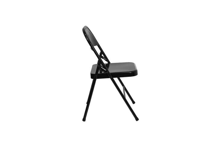 the classic hercules black metal chair is\$\1\1.49 at folding chairs 4 less. 13