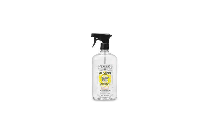 J. R. Watkins offersAll-Purpose Cleaners in six natural scents, from lemon to grapefruit, all of them chemical-free; $4.99 each.