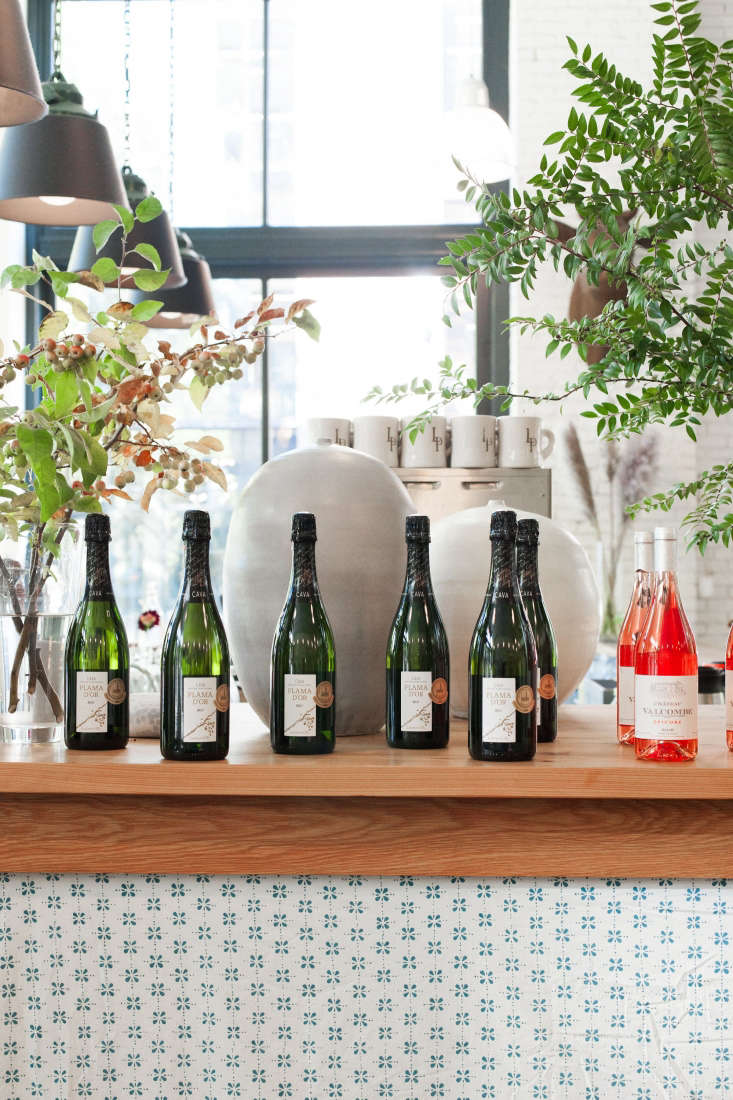 Perched near the entrance, bottles of cava and rosé give guests subtle pairing suggestions.