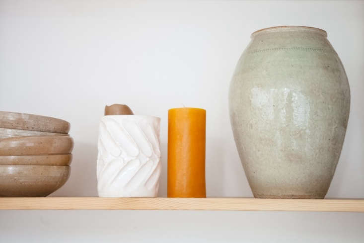 Modern Thrift Lucile Demorys ArchitectDesigned Rental in Paris The white vase with fingerprints is by Lucile.