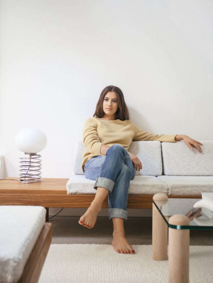 Modern Thrift Lucile Demorys ArchitectDesigned Rental in Paris Lucile on the Pierre Chapo; she wears an A.P.C. Italian lamb&#8\2\17;s wool sweater. For more on her personal style, visit Unfussy French Girl Style with Lucile Demory.