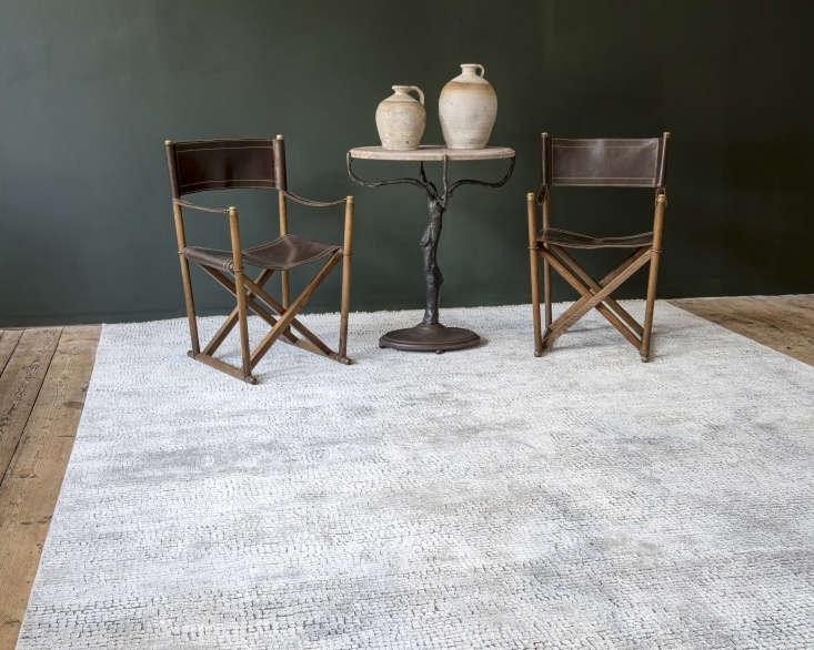 The Cumulae rug, properly proportioned to create a living space.