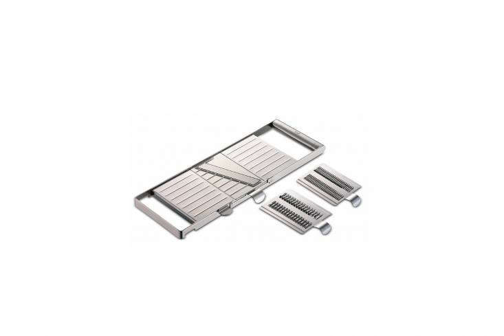 The Cutting Edge 10 Favorite Mandoline Vegetable Slicers A Stainless Steel Mandoline Select from Euro store Magazin, cuts vegetables with three interchangeable blades; €40 (\$47) at Magazin.