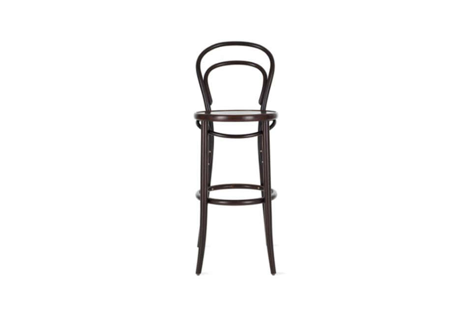 The Michel Thonet Era Barstool is an off-the-shelf option for the vintage stools in the kitchen; $5 at Design Within Reach.