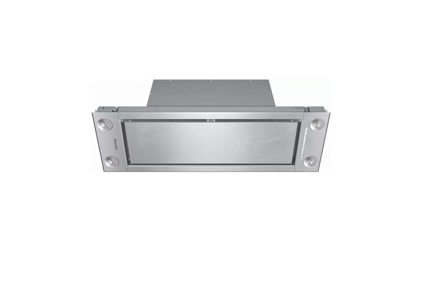 The Miele 36-Inch Insert Ventilation Hood is extra-slim to fit under a src=