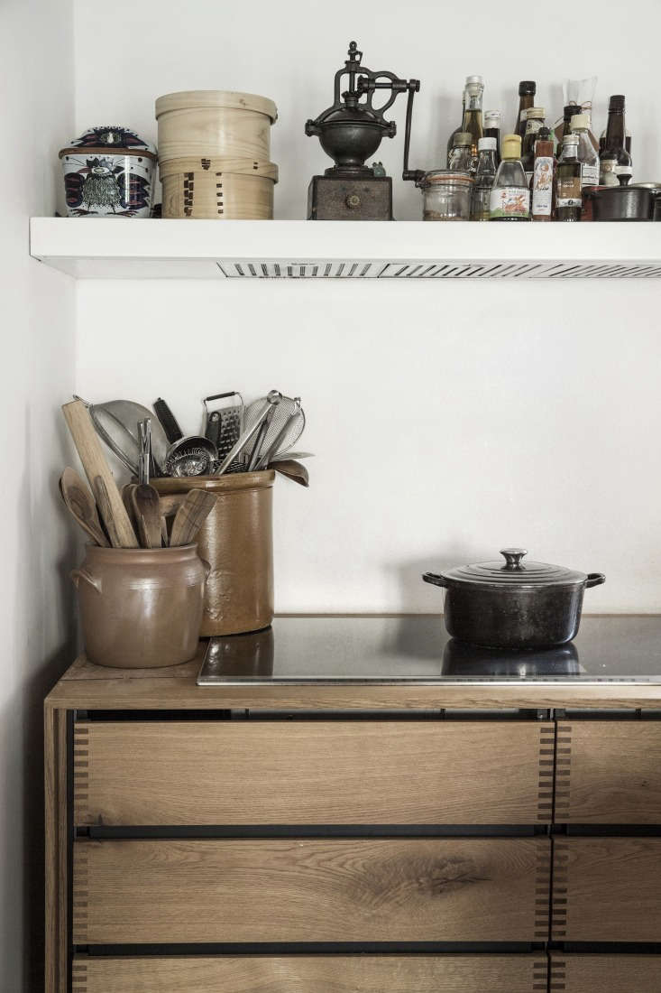 Expert Advice Nadine Redzepis Secrets to a WellOrdered Home Kitchen Large ceramic pots hold much reached for kitchen tools. Photograph courtesy ofDinesen.