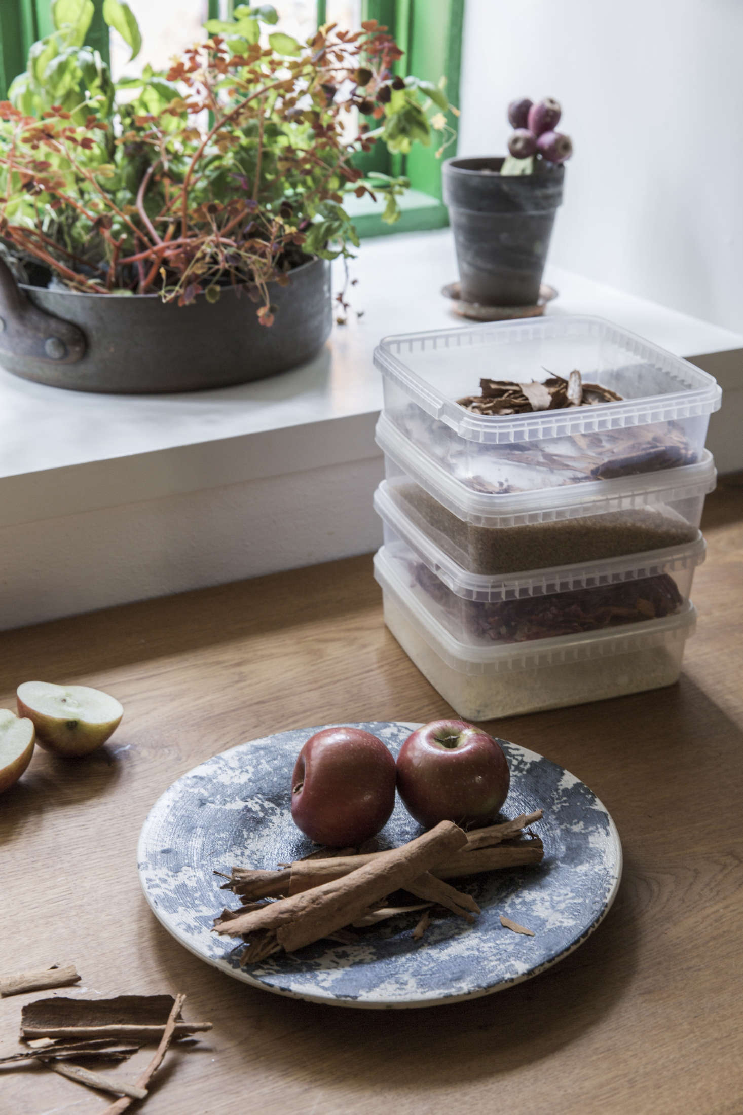 Go-to storage containers, at Noma and at home. Photograph courtesy of Dinesen.
