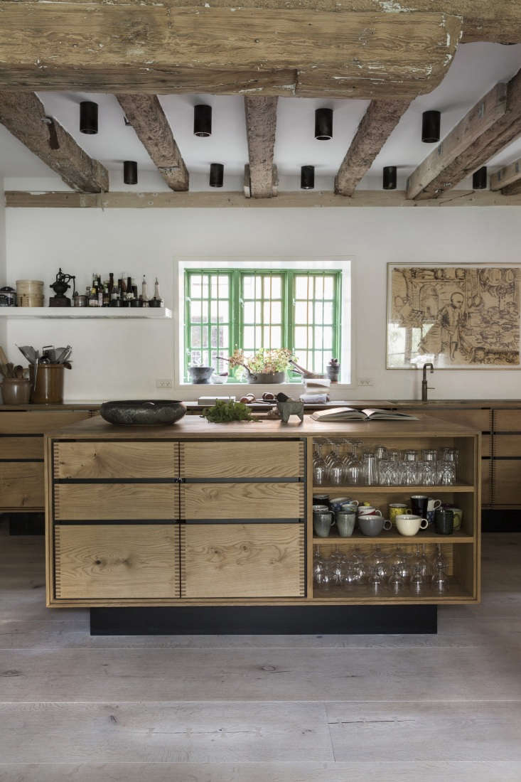 Expert Advice Nadine Redzepis Secrets to a WellOrdered Home Kitchen The versatile shelving, styled with glassware. Photograph courtesy ofDinesen.
