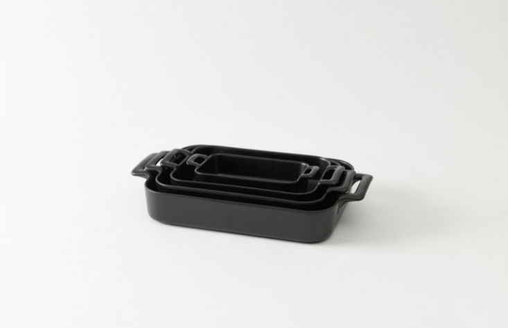 We like the Rectangular Baking Dishes by Revol (shown here in black) for a multitude of holiday cooking needs. They come in four sizes, so you can use them for almost every Thanksgiving dish, from oven-baked potatoes to crumbles and crisps. They range from $40 to $0 and are available from March.