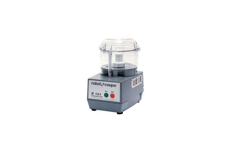 10 Easy Pieces Food Processors An industrial strength food processor designed for commercial kitchens, the French Robot Coupe Food Processor has one speed, a \1,7\25 RPM motor, and a \10 cup capacity; \$5\1\1 at KaTom.