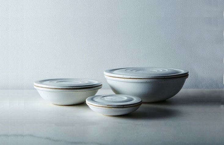 One thing we do advocate investing in: a set of good mixing bowls that you can use year-round.One of our favorites:Ceramic Nesting Bowls bySarah Kersten. Use them to mix up batters and pie fillings, then wash them and fill them with greens and potatoes and stuffing; they&#8