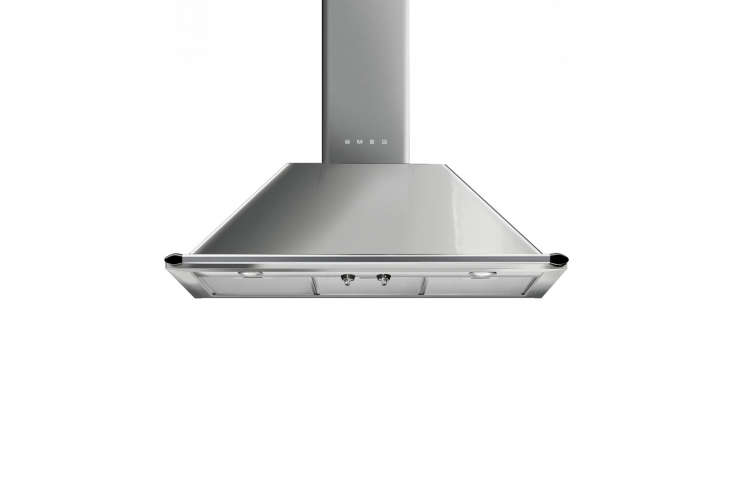10 Easy Pieces WallMounted Chimney Range Hoods For a more traditional look, consider the Victoria 36 Inch Wall Mount Chimney Ventilation Hood made by Smeg. It&#8\2\17;s available in black, cream, and stainless steel, it has ergonomic control knobs and two halogen lights; \$\1,699.99 at Bed, Bath & Beyond.