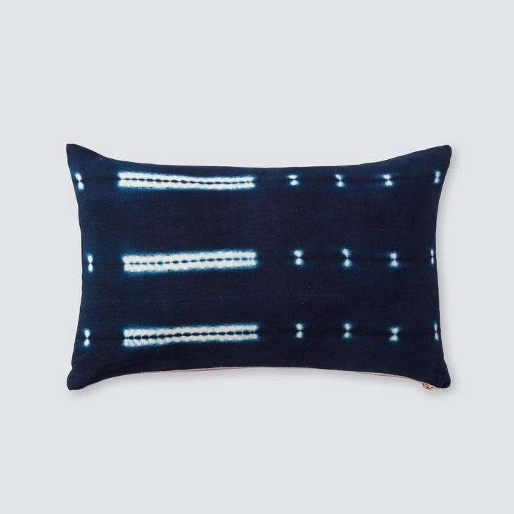 TheTalari Indigo Lumbar Pillow is made of 0 percent cotton, hand-dyed with indigo in a fair-trade cooperative in Mali. It&#8