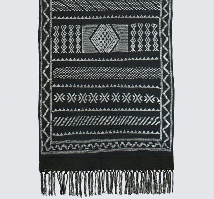 TheAdila Cactus Silk Runner is made in Morocco of sabra, a vegan silk alternative derived from cactus. The rug is 8 by
