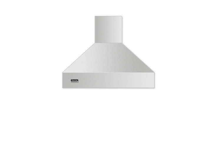 10 Easy Pieces WallMounted Chimney Range Hoods The Viking Professional 5 Series 36 Inch Wall Mount Chimney Range Hood has a built in heat sensor, maintenance free ventilators, and is \$\1,749 at US Appliance. It requires the purchase of an internal or external blower, sold separately.