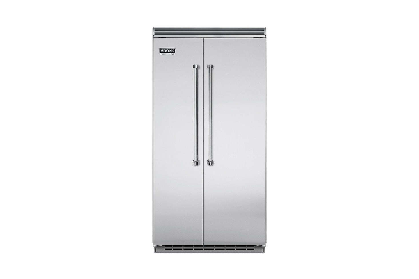 The Viking Side-by-Side Stainless Steel Refrigerator (VCSB54SS) is $9,889 at Designer Appliances.