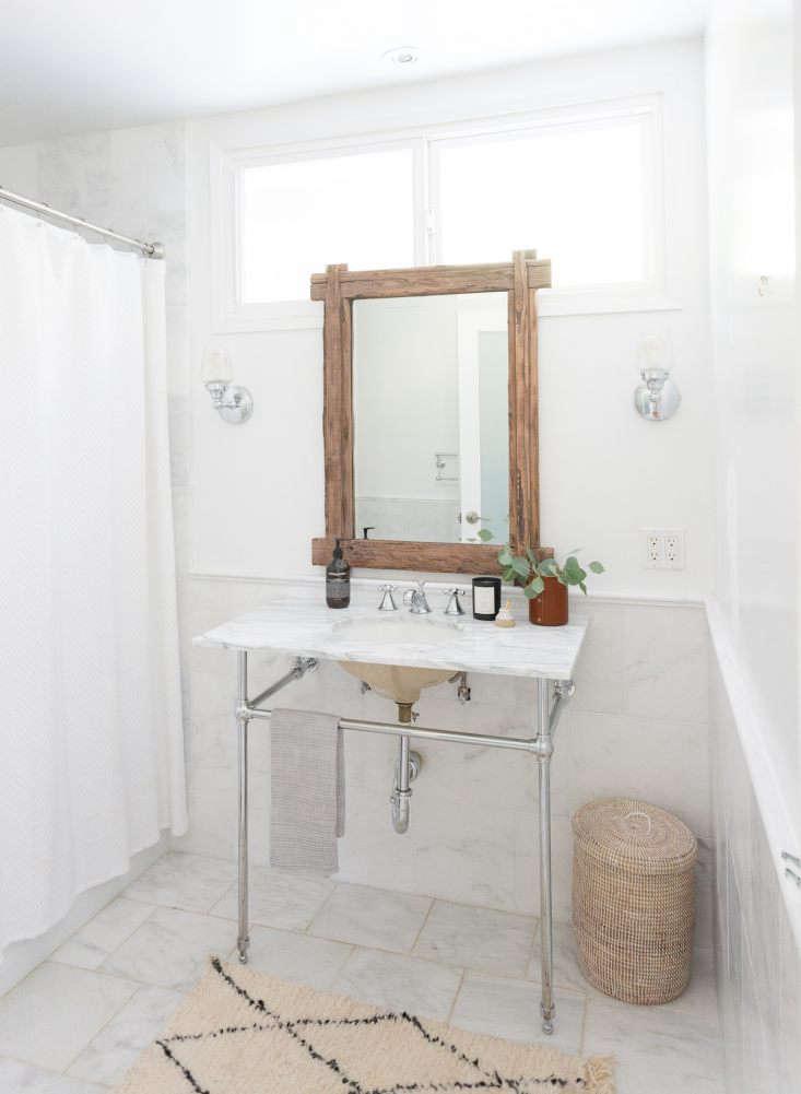 white marble bathroom washstand julia hunter la