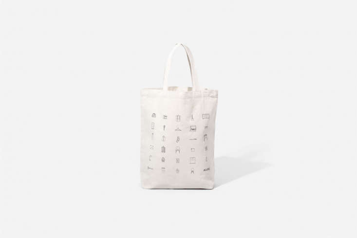 The Tiny Things Tote Bag from A:LOG features tiny drawings of &#8