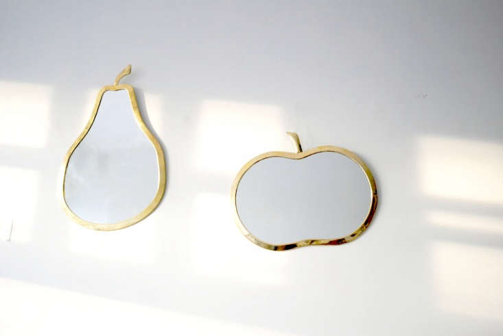apple pear mirrors brass calmachica