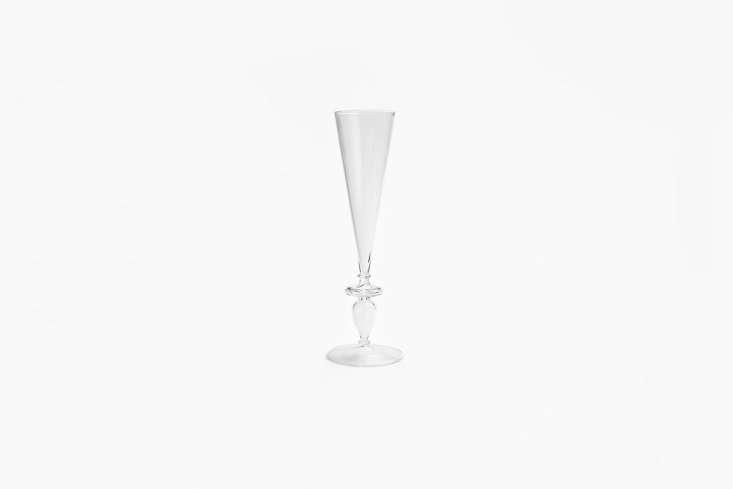 10 Easy Pieces Champagne Flutes The Astier de Villatte Clarabelle Champagne Flute is \$85 at ABC Carpet & Home.
