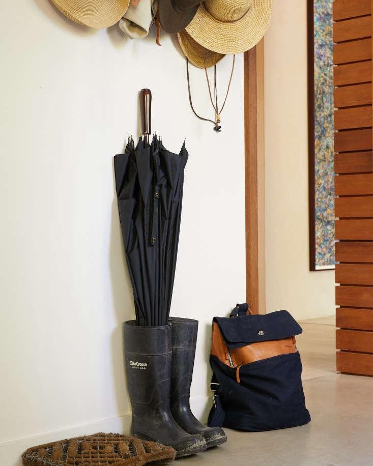 baker lane mudroom boots hats umbrella