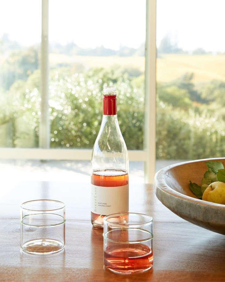 baker lane rose wine permanent collection glasses