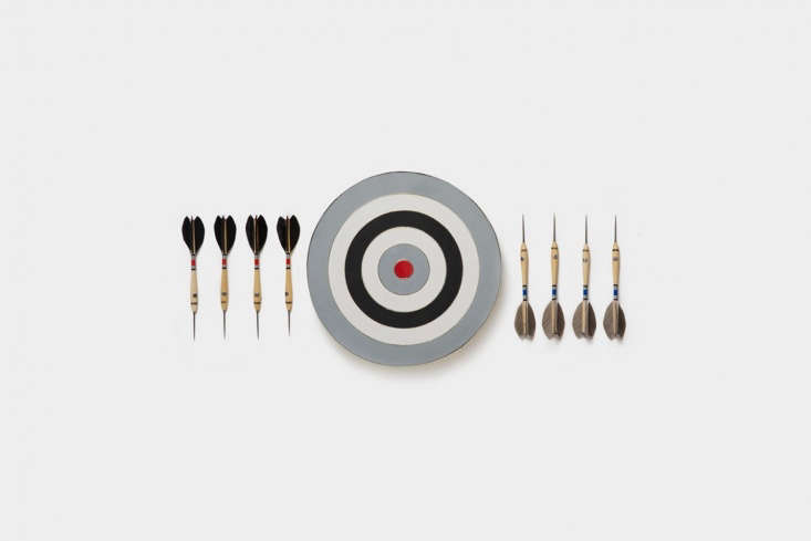 the brass accentedmonochrome belgian dart set is handmade in the us and inspi 15