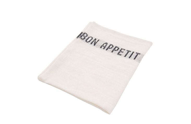 An apt gift for the French-style cook: an embroidered Bon Appétit Tea Towel, &#8