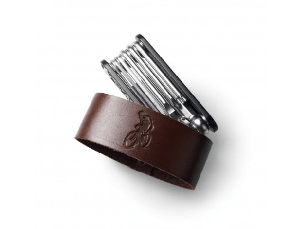 Available in black, brown, and honey, theBrooks MT Multi Tool (shown) is my favorite tool for on-the-go fixes;$45. My runner-up is theBike Tool Roll from Seattle-based EH Works, available in three sizes; $38 to $5