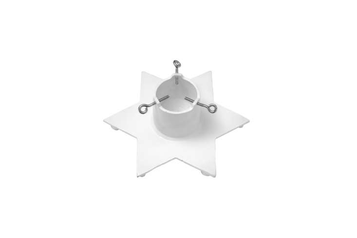 The Bruka Design Christmas Tree Star in white (also available in black) cast iron is 895 SEK ($6 USD) at Bruka Design.