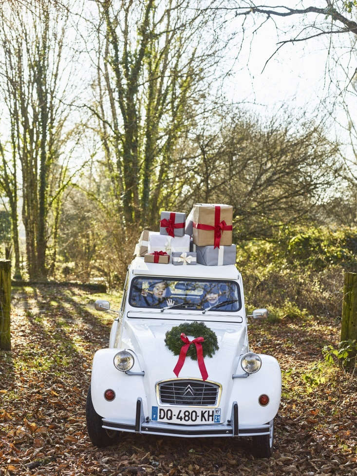 marjorie lives nearby and arrives midday every christmas in her vintage \2cv wi 10