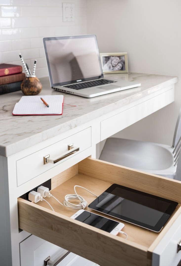 Docking Drawer charging outlets are ideal for home offices.