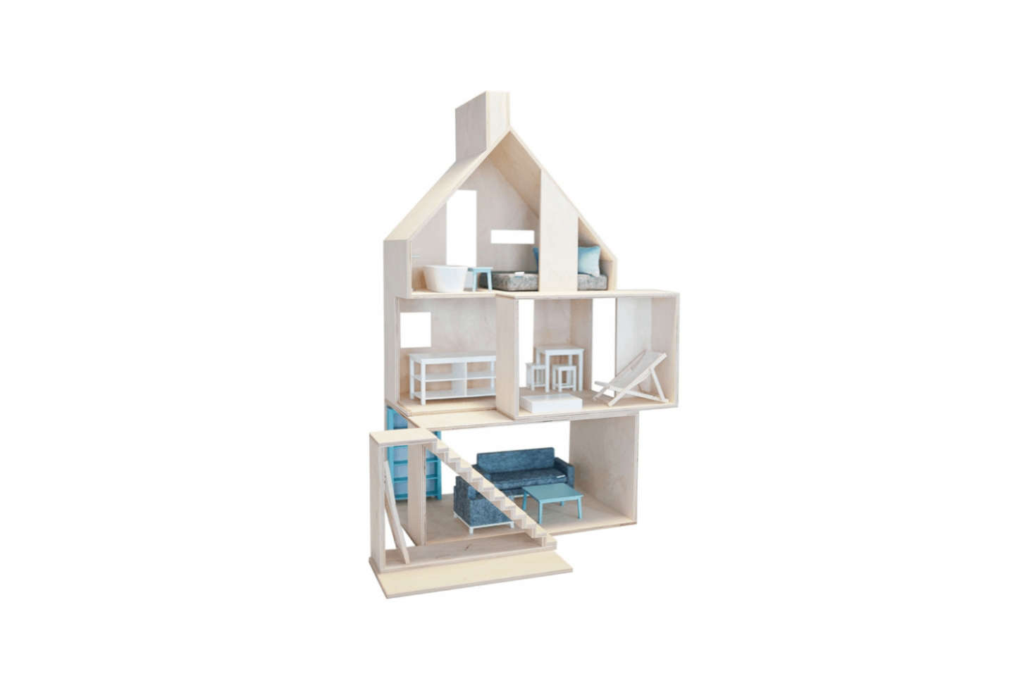 Another favorite of mine, thisEuropean Wooden Dollhouse features four separate components, so your child can explore architecture as well as interior design; $480. On the dollhouse design theme, Rock & Pebbles&#8