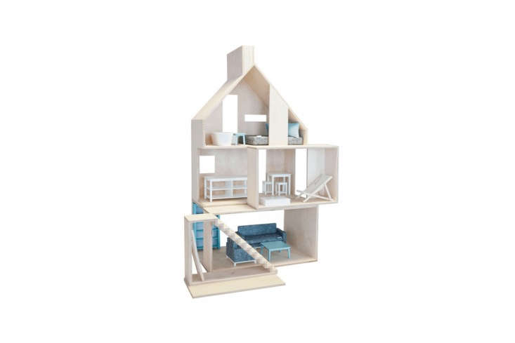another favorite of mine, thiseuropean wooden dollhouse features four separat 15