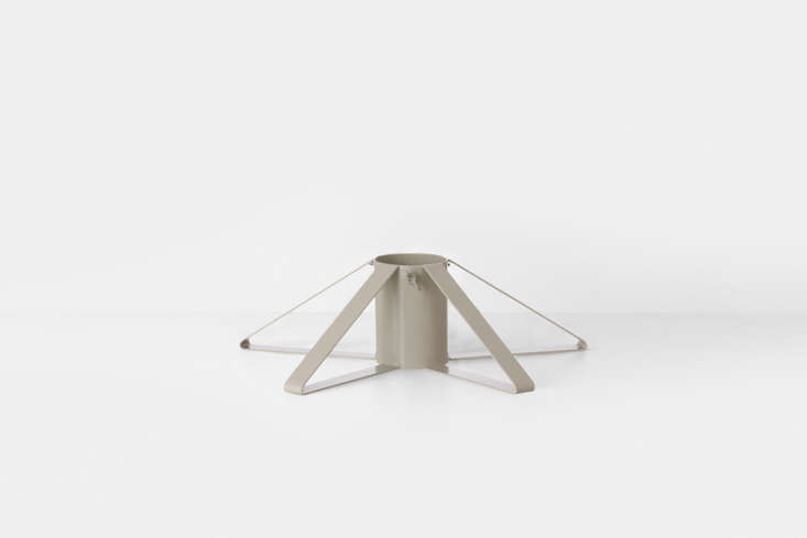 The powder-coated grayChristmas Tree Foot from Swedish company Ferm Living is €69 ($8