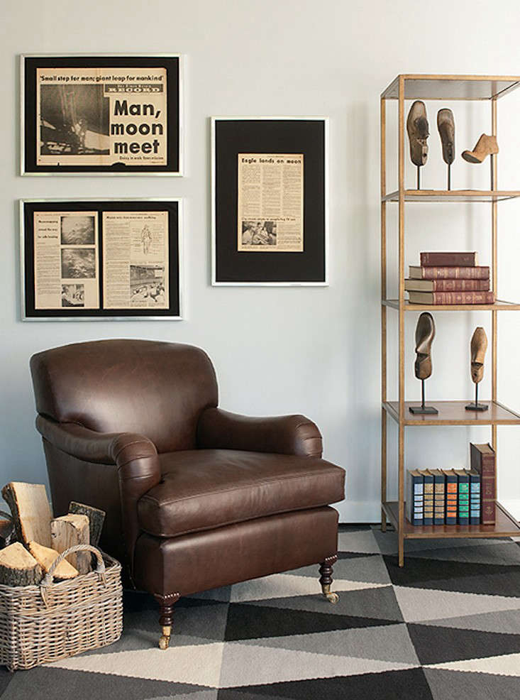 The George Smith Standard Arm Signature Chair comes in a leather option. Contact George Smith for pricing and more information.