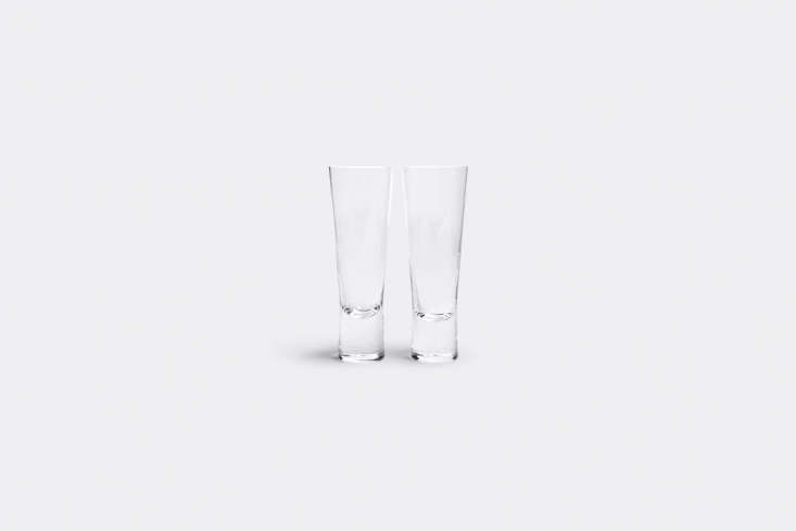 10 Easy Pieces Champagne Flutes Designed in the \1950s by decorative artist and glass designer Goran Hongell, theIittala Aarne Champagne Glasses are \$74.99 a pair from Amazon.