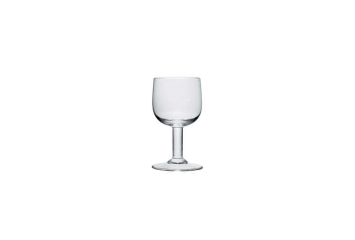 jasper morrison'sglass family goblet is currently on sale at hive: \$30.40  11