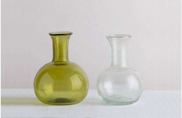Blown Glass Piccola Bottles by French glassmaker La Soufflerie (a Remodelista favorite) look as though they&#8