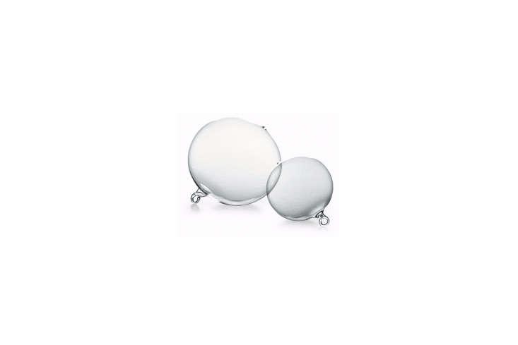 German company Krebs Glas Lauscha makes hand-blown Lauscha Clear Crystal Globe Ornaments; €