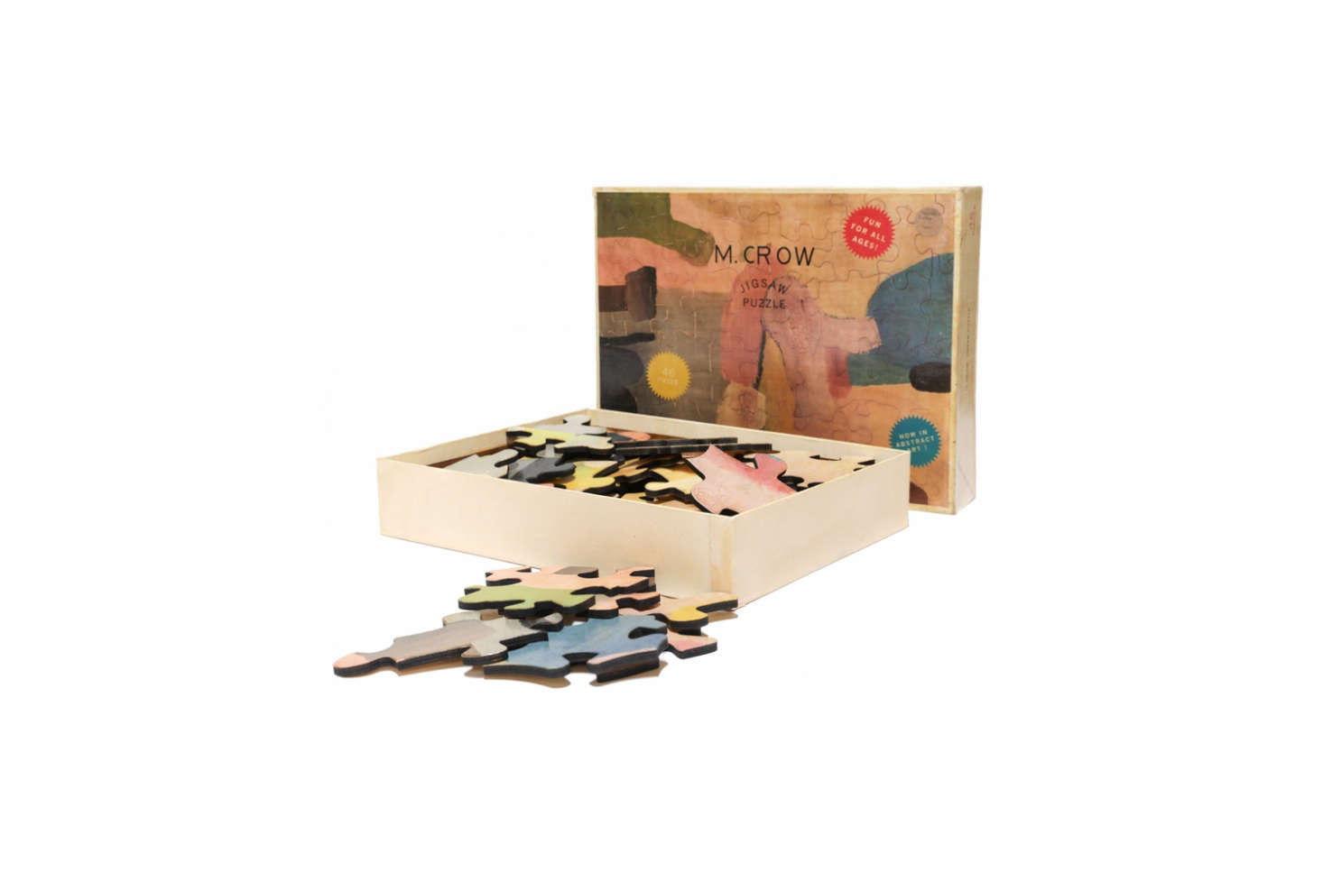 On our wish lists for a while now: Hand-Painted Puzzles by Tyler Hayes, the multitalented creative behind BDDW and M. Crow. The puzzles measure  by  inches and, once completed, can be displayed on an M. Crow puzzle stand (available for $300). The M. Crow Puzzle Catalogue is $0 and includes all 76 hand-painted puzzles and prototypes produced in Tyler Hayes&#8