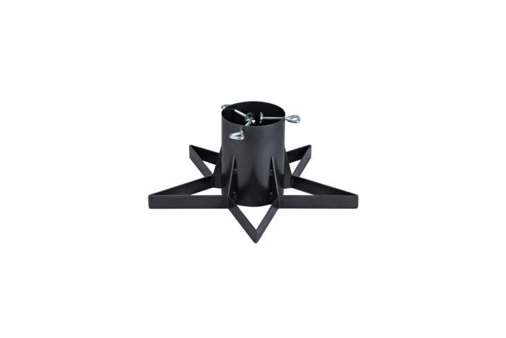 From Markslöjd, theJulle Tree Stand in black metal is available through Markslöjd or on Wayfair in the UK; £78.99 ($6).