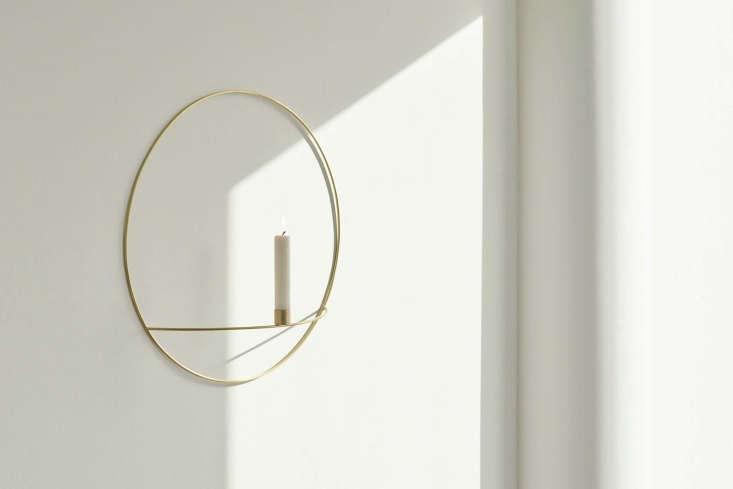 menu&#8\2\17;s pov circle candleholder is made of silver plated brass and f 9