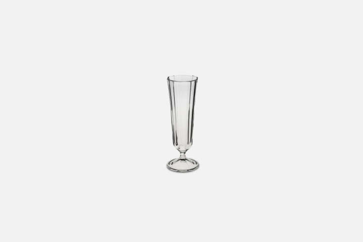10 Easy Pieces Champagne Flutes A durable faceted stem Champagne Flute is \$4.08 at Merci.