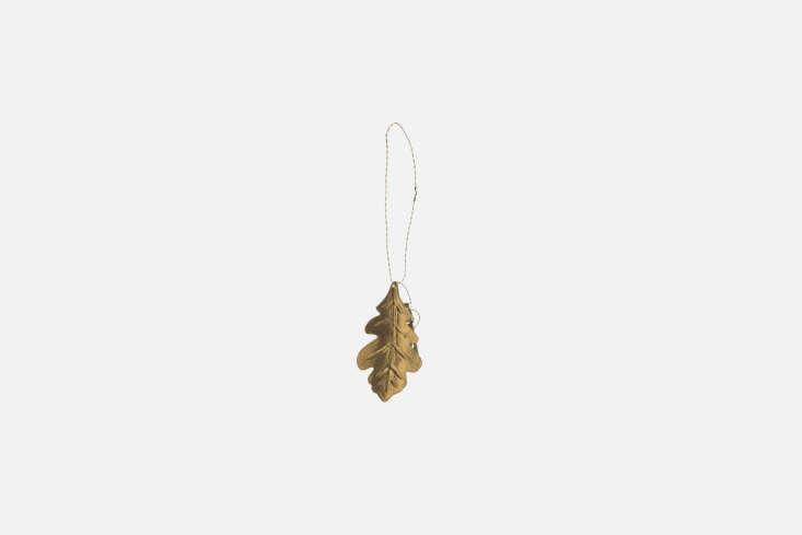 From Merci in Paris, the Golden Brass Oak-Tree Leaf is $loading=